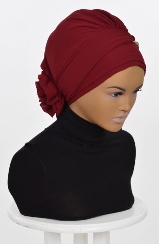 TURBAN PRET MOUSSELİNE-BORDEAUX HT0007-7 0007-7