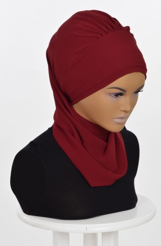 Claret red Ready to wear Turban 0026-7