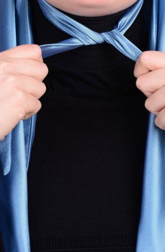 Sefamerve Akıllı Eşarp 24 Metal Mavi Lacivert
