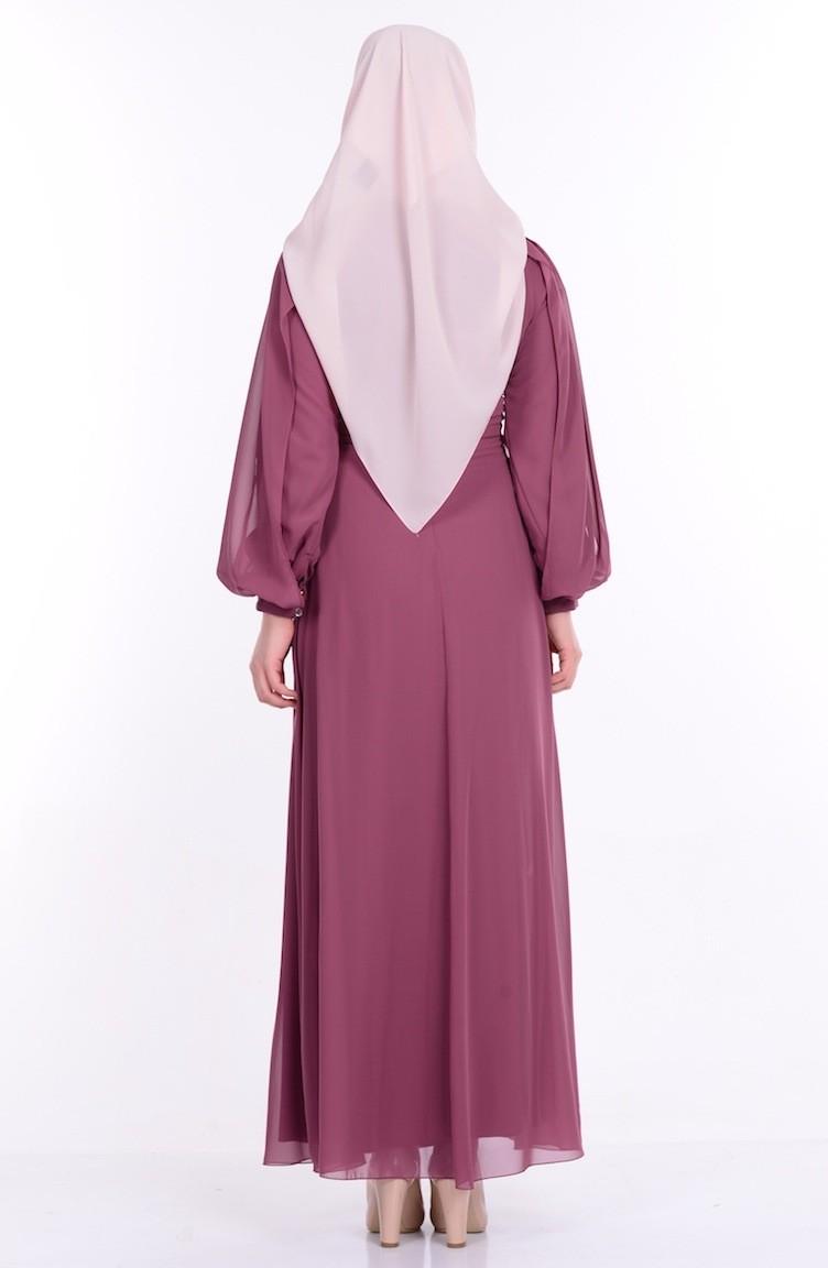 3b53389ef99974 Dusty Rose Islamic Clothing Evening Dress 52553-05