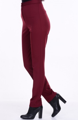Claret red Pants 1004-08