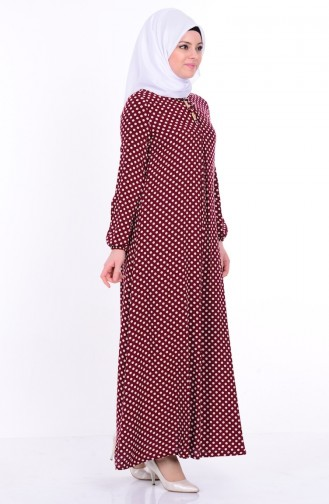 Sefamerve Bağcık Detaylı Elbise 1147-05 Bordo