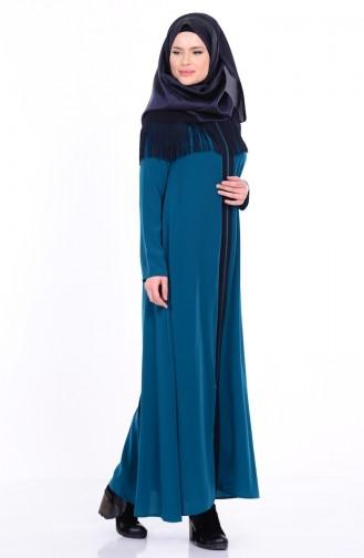 Oil Blue Abaya 1026-01