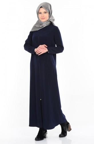 Abaya mit Reißverschluss 1044-03 Dunkelblau 1044-03