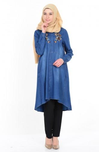 Blue Overhemdblouse 4465-01
