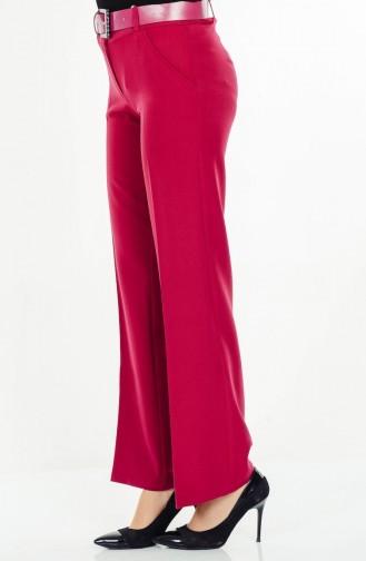Pantalon a Ceinture 3068-23 Plum 3068-23