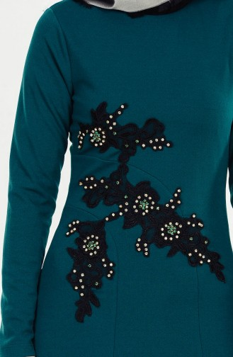 Dantelli Elbise 0026-03 Yeşil