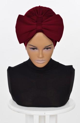 Bonnet avec Noeud Géant-Bordeaux HT0295-3 0295-3