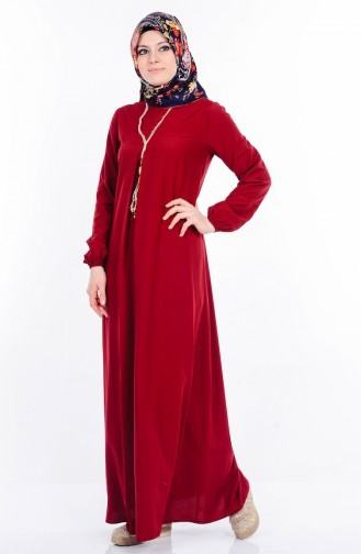 BENGISU Necklace Dress 4073-02 Claret Red 4073-02