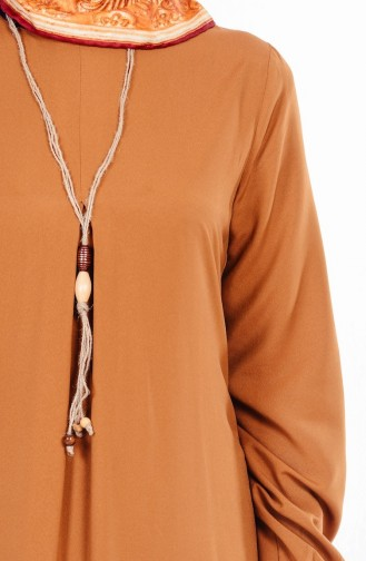 Robe avec Collier 4073-04 Tabac 4073-04