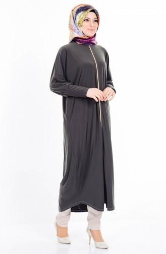 Khaki Abaya 17721-02