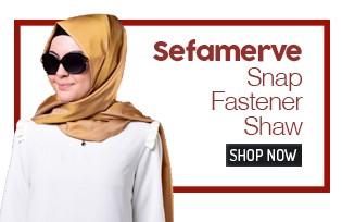 Sefamerve Snap Fastener Shawl