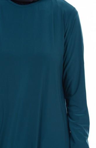Pantolon Tunik İkili Takım 1778-08 Zümrüt Yeşil