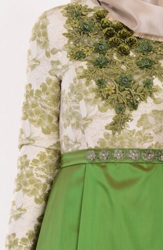 فستان للمناسبات لون اخضر  9455-04
