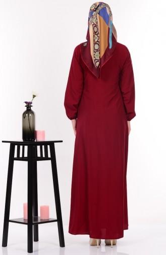 Salaş Elbise 4074-07 Bordo