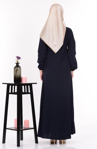 Salaş Elbise 4074-04 Lacivert