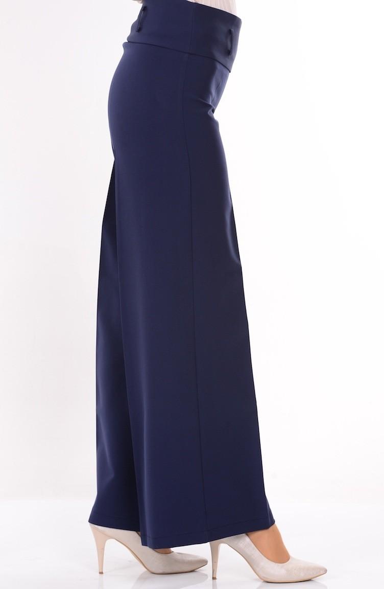 8e5ce9125703 Wide Pants 3069-17 Light Navy Blue 3069-17