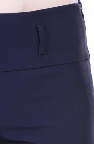 Pantalon Hijab 3069-17 Bleu Marine Clair 3069-17
