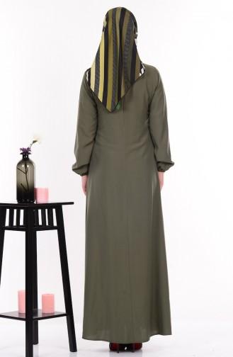 Salaş Elbise 4074-10 Yeşil