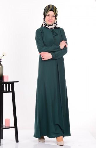 Salaş Elbise 4074-03 Zümrüt Yeşil