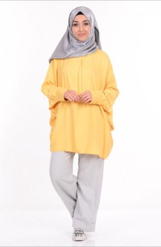 Yarasa Kol Bluz 6017-04 Sarı Sefamerve