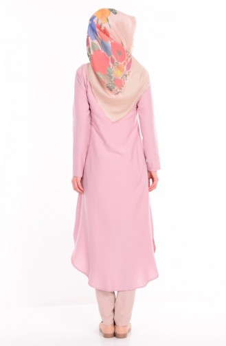 Buttoned Tunic 2034-07 Pink 2034-07