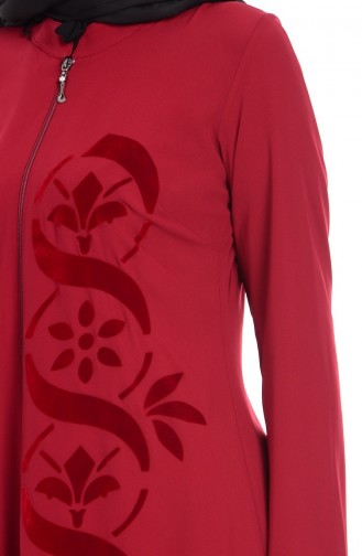 Claret red Abaya 1503-02