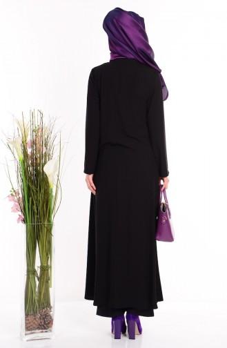 Black Abaya 1503-04
