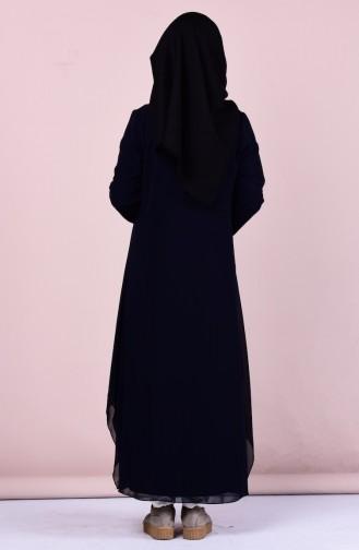 عباءة بتصميم مُطرز 4101-02