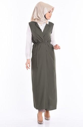 Light Khaki Green Vest 4032-14