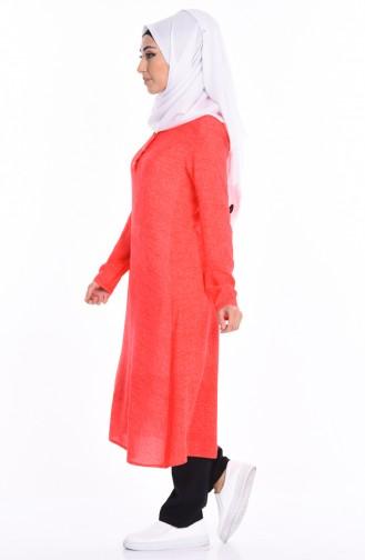 Düğmeli Tunik 1049-05 Oranj Sefamerve