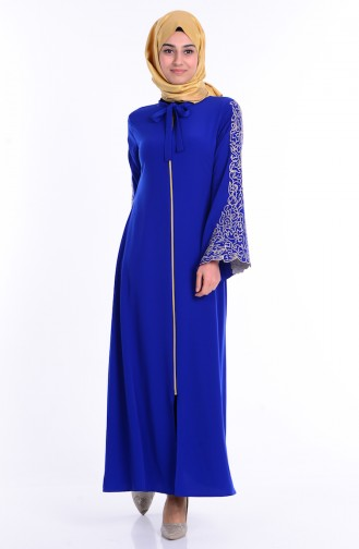 Saxon blue Abaya 2103-06
