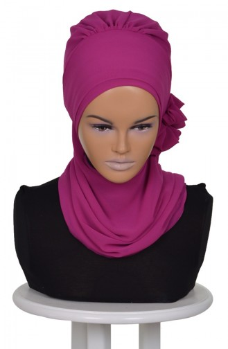 Fuchsia Ready to wear Turban 0026-1