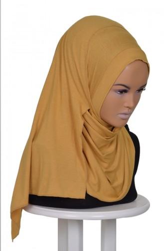 Praktisch Schal aus Gekämmte Baumwoll-Senf PS0016-H 0016-H