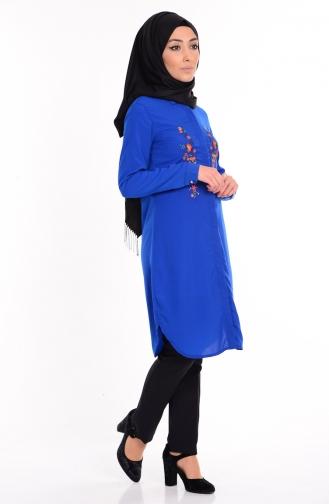 Robe Bordée 0627-06 Bleu Roi 0627-06