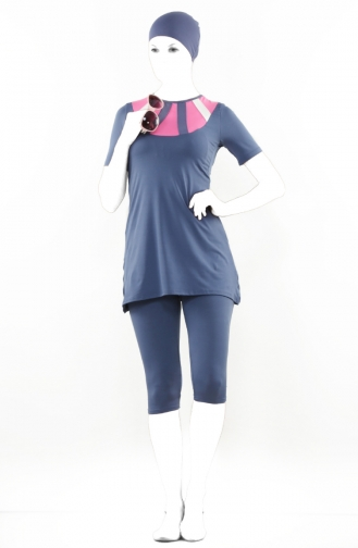 Blue Swimsuit Hijab 1048-03