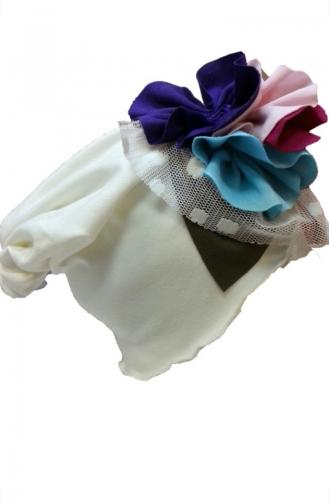 Bonnet Accessoire Fleurs NS60 Ecru 60