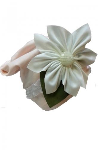 Mütze mit Blumen NS68 Puder 68