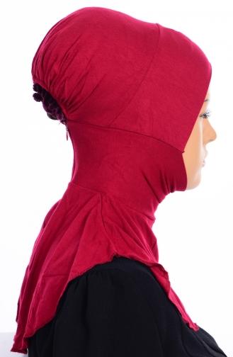 Sefamerve Übergröße Hijab Bonnet 01 Weinrot 01