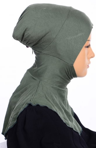 Sefamerve Übergröße Hijab Bonnet 02 Khaki Grün 02