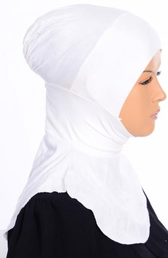 Sefamerve Bonnet Hijab Grande Taille 04 Blanc 04