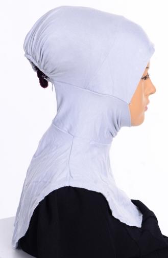 Sefamerve Bonnet Hijab Grande Taille 07 Gris 07