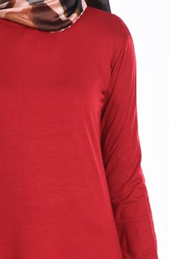 قطن منسوج أحمر كلاريت 0728-24