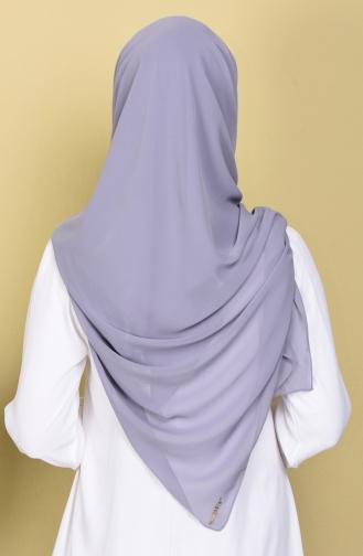 Übergröße Kopftuch aus Kreppstoff 50024-14 Dunke Grau 14