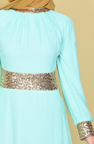 Mint green Islamic Clothing Evening Dress 2398-24