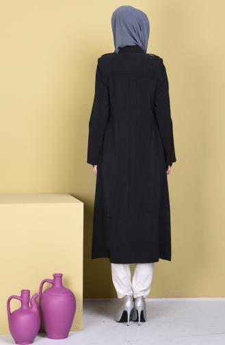 شوكران كاب بتصميم أزرار 35744-01 لون أسود 35744-01