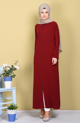 Claret red Abaya 1044-09