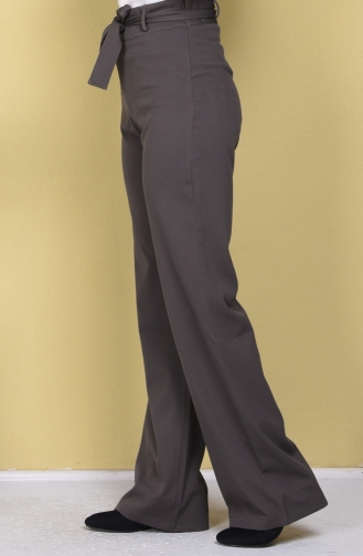 Kemer Detaylı Pantolon 1235-02 Haki Yeşil Sefamerve