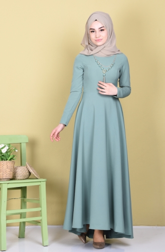 Asymmetric Dress 4055-24 Almond Green 4055-24