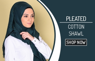 Pleated Cotton Shawl 90084